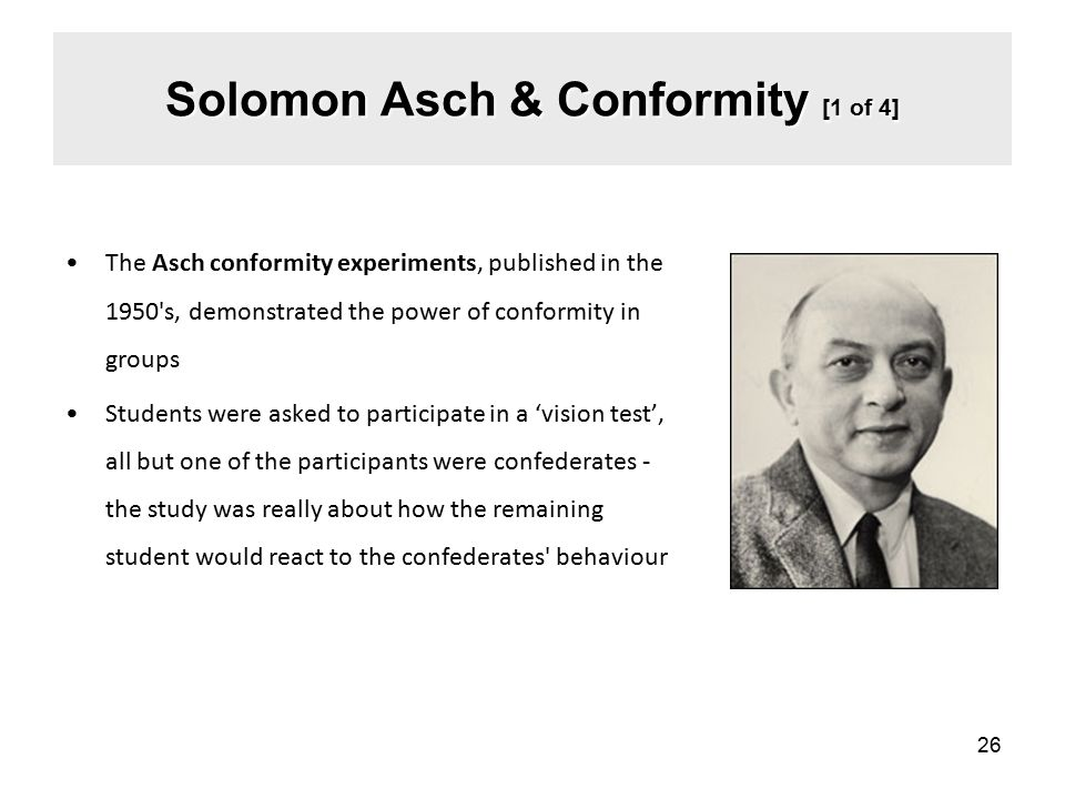 Solomon Asch & Conformity [1 of 4]